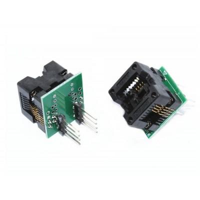 2 li SOP8 SO8 to DIP8 Adaptör Soket