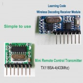 4 Kanal 433Mhz Alıcı Verici Kit