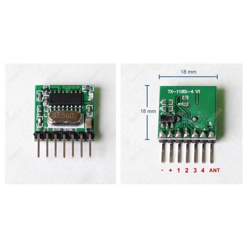 433 Mhz Mini Wireless Receiver And Transmitter Remote