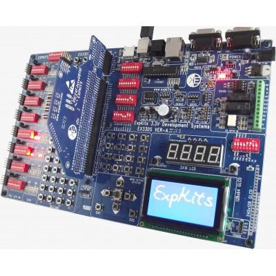 EX33DS + 24FJ256GB110 + LCD + GLCD