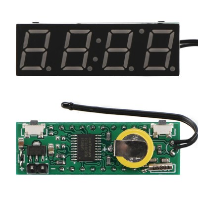 3 in 1 Voltmetre Termometre Saat