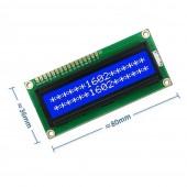 1602A 16x2 Karakter LCD Mavi