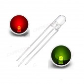 Led 5mm Kırmızı Yeşil Ortak Katot