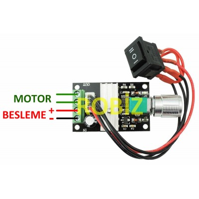 3A 28V DC Motor Speed Controller with Switch Function