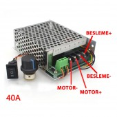 40A 50V DC Motor Hız Kontrol Devresi