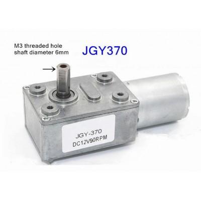 12V 90Rpm Geared DC Motor JGY370