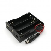 18650 Battery Holder 3X with DC Plug 5.5*2.1mm