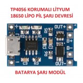 TP4056 Battery Charger + Protection + Microusb