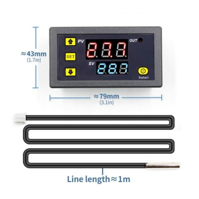W3230 12V Dijital Termostat