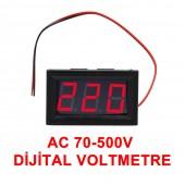 0.56' AC 70-500V Dijital Kırmızı Panel Tip Voltmetre