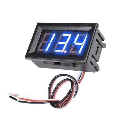 Voltmetre 0.56' 4-30V Mavi