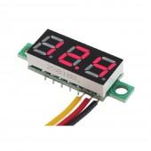 Voltmetre 0,28' 0-100V Kırmızı