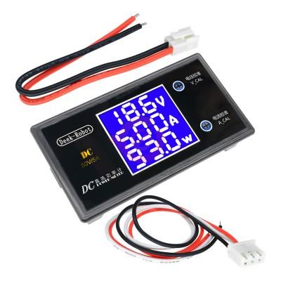 0-50V 5A Voltmetre Ampermetre Wattmetre