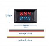 0-100V 10A Voltmetre Ampermetre