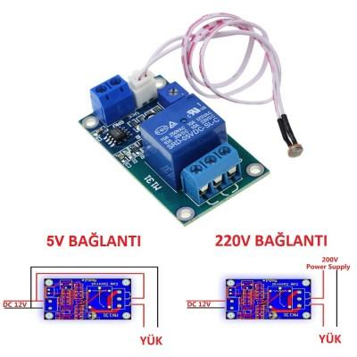 XH-M1315V Light Control Switch Photoresistor Relay Module