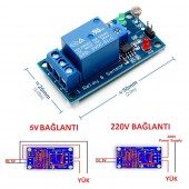 5V Light Control Switch Photoresistor Relay Module