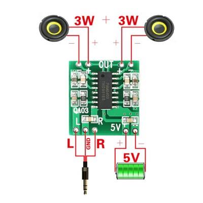 PAM8403 2x3w Amplifier Board