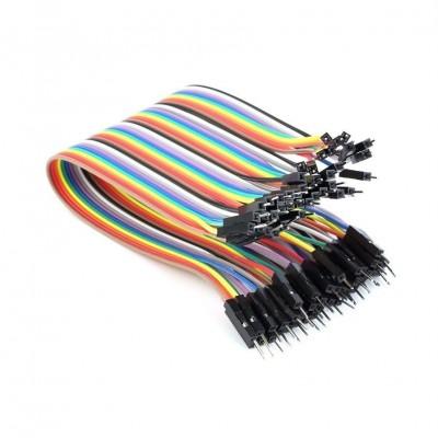 20cm 40 Pin Erkek Erkek Dupont Kablo