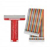 Raspberry Pi T Genişleme Kartı + 40 Pin Kablo